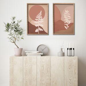 Colour Field Botanicals A2 | Set of 2 Art Prints | Unframed