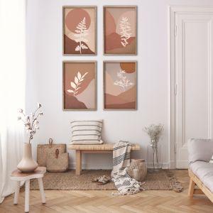 Colour Field Botanicals A2 | Set of 4 Art Prints | Unframed