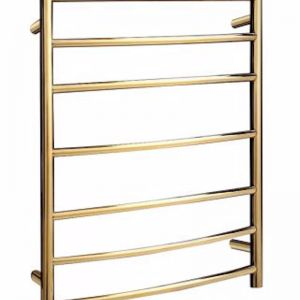 Coloured Heated Towel Ladder | Gold