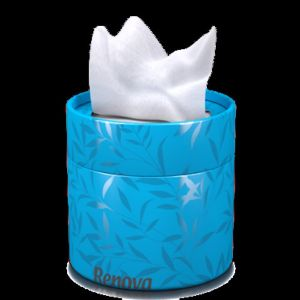 Coloured Tissue Tub with facial tissues | Blue