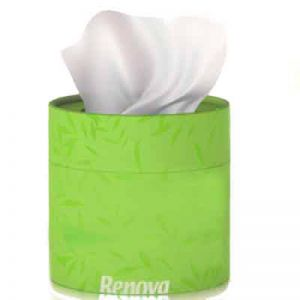 Coloured Tissue Tub with facial tissues | Green