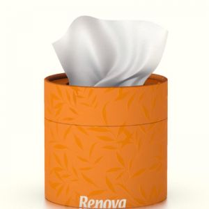 Coloured Tissue Tub with facial tissues | Orange