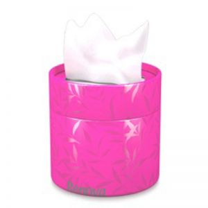 Coloured Tissue Tub with facial tissues | Pink