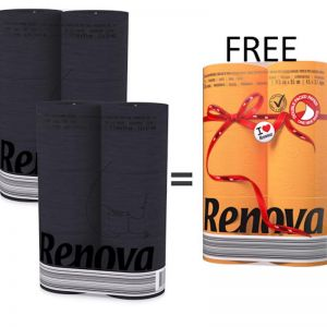 Coloured Toilet Paper Bundle | 2x Black 6 roll + 1x Orange 6 roll