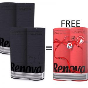 Coloured Toilet Paper Bundle | 2x Black 6 roll + 1x Red 6 roll