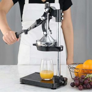 Commercial Stainless Steel Manual Juicer | Black
