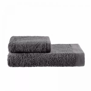 Como Cotton Towels by KAS Australia | Charcoal