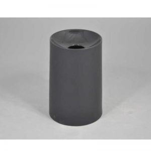 Concave Ceramic Vase | Black | CLU Living