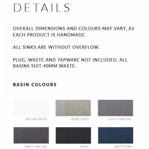 Concrete Basin | Round | Dark Grey