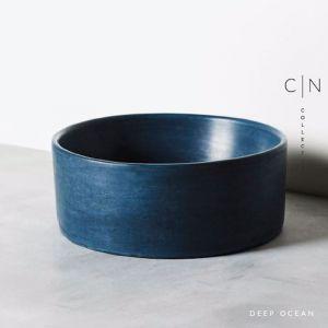 Concrete Basin | Round | Deep Ocean Blue