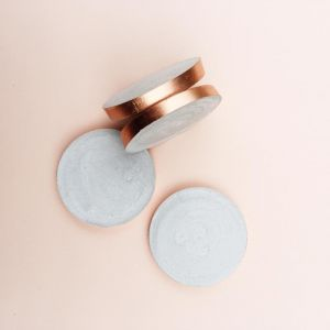 Concrete Coasters | Copper Edged | Set of 6 Coasters