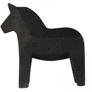 Concrete Dala Horse | Black or Natural | By Zakkia
