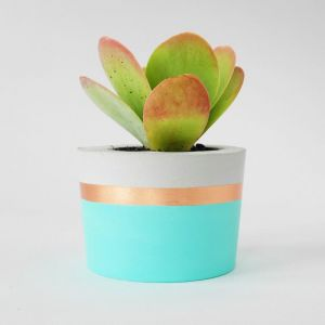 Concrete Planter | Spearmint & Copper | by Coral and Herb