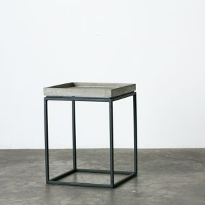 Concrete Side Table with Tray Top