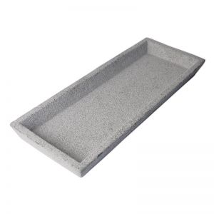 Concrete Square Tray | Natural or Black | By Zakkia