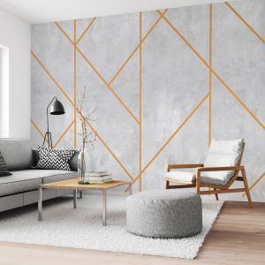 Concrete Stucco with Line Pattern | WALLPAPER