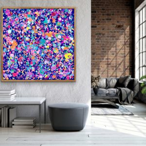 Confetti | Abstract Canvas Print | by Edie Fogarty