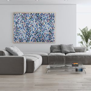Confetti Rain 2A0 Limited Edition Unstretched Canvas Print