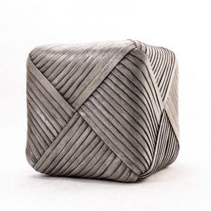 Contemporary Bamboo Cube Stool
