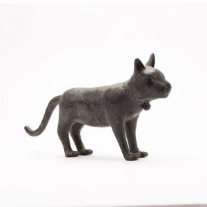 Contemporary Cast Bronze Cat