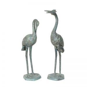 Contemporary Indonesian Bronze Cranes
