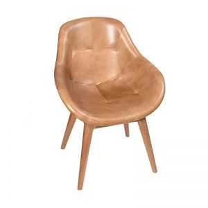 Contemporary Leather Bucket Chair