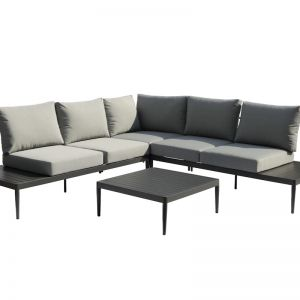 Coogee 4-Piece Aluminium | Outdoor Modular Lounge Setting | Charcoal