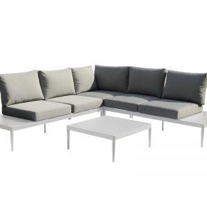 Coogee 4-Piece Aluminium | Outdoor Modular Lounge Setting | White