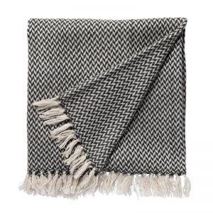 Copenhagen Cashmere Throw   Charcoal