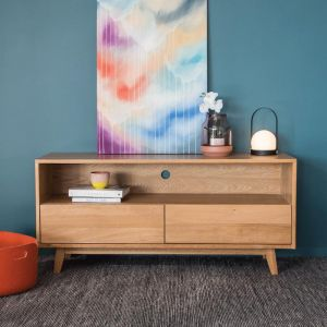 Copenhagen Solid European Oak | 130cm | TV Unit