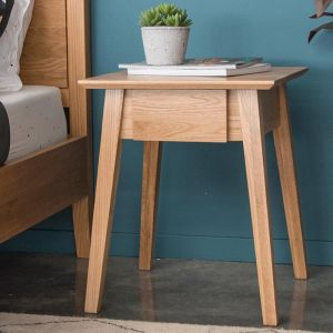 Copenhagen Solid European Oak Bedside Table w Draw