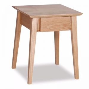Copenhagen Solid European Oak Bedside Table w Draw