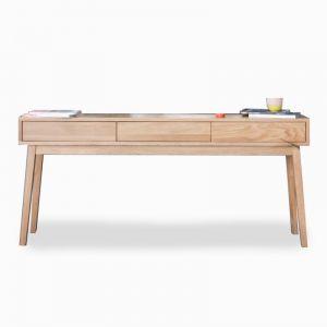 Copenhagen | Solid European Oak | Long Hall Entrance Console Table | 3 Draws