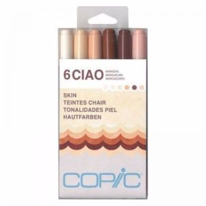 Copic Ciao Art Marker Set of 6 | Skin Tones