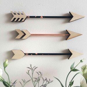 Copper Foiled Arrow Set   Black