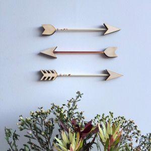 Copper Foiled Arrow Set   Cream