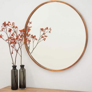 Copper Simplicity Round Mirror