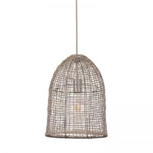 Coral 1 Light Small Pendant in Grey   By Beacon Lighting