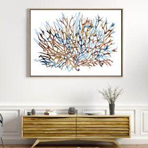 Coral Water | Drop Shadow Framed Wall Art
