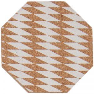 Cork Placemat White Diamond | Set of 4