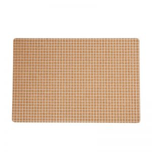 Cork Placemat White Grid | Set of 4