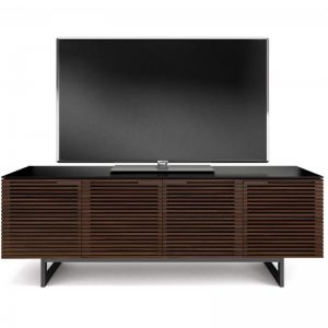 Corridor 8179 Tall Entertainment Cabinet | Chocolate Stained Walnut | CLU Living