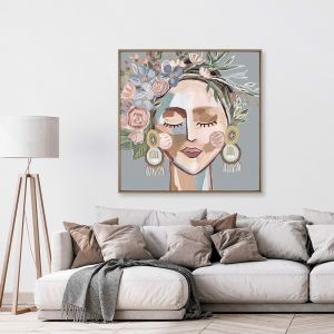 Cosmo Sage | Framed Canvas