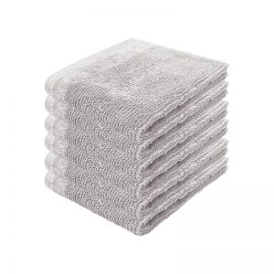 Costa Face Washer | Silver | Set of 6