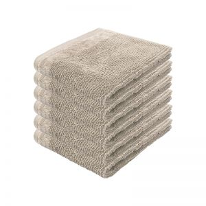 Costa Face Washer | Stone | Set of 6