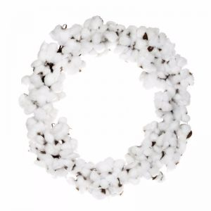 Cotton Christmas Wreath | by Raw Decor