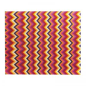 Cotton Dhurrie Pixel Chevron Multi | Rug | by Canvas & Sasson