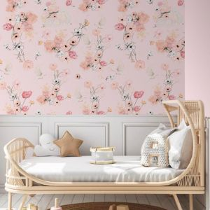 Cottontails Blossom Pink Wallpaper