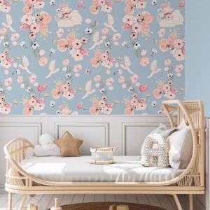 Cottontails Pastel Sky Wallpaper