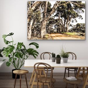 Country Road | Australian Bush Road Nature Print